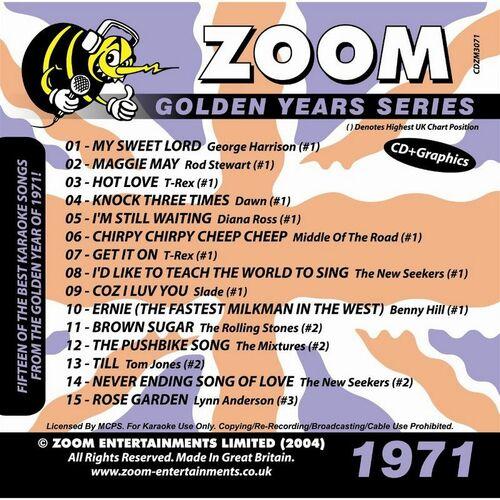Zoom Karaoke: Zoom Karaoke Golden Years 1971 - Music