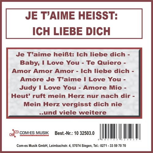 Love Was Heißt You I the